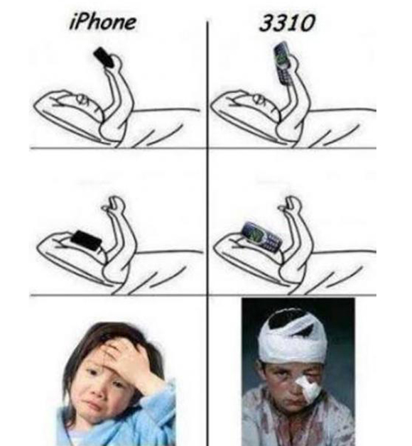 Nokia 3310 vs iPhone