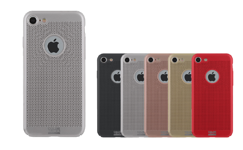 coque iphone 8 color block
